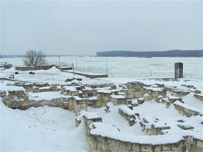 Ледени блокове са покрили целия Дунав при Силистра.