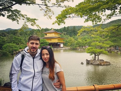 Мачи и Мартин при гостуването в Япония