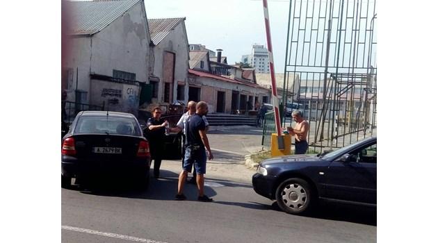 Сбиване на бургаско кръстовище