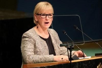 Шведският министър на външните работи Маргот Валстрьом СНИМКА: Ройтерс