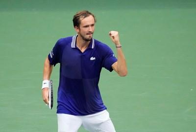 """Данил Медведев спечели първата си титла от """"Големият шлем"""". Снимка: Ройтерс"""