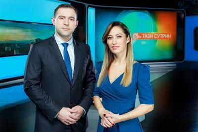 Биляна Гавазова и Златимир Йочев са новата двойка тв водещи. СНИМКА: Би Ти Ви