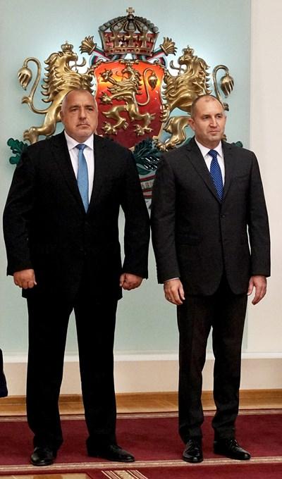 Премиерът Бойко Борисов и президентът Румен Радев излязоха с обща позиция по въпроса за Северна Македония. СНИМКА: Десислава Кулелиева