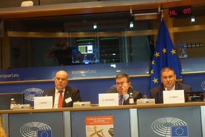 Иван Гешев, Сотир Цацаров и евродепутатът Емил Радев участваха в кръглата маса за падането на мониторинга.