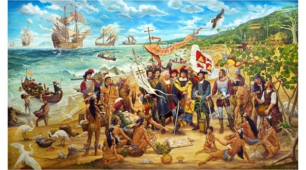 Спонсорите на Колумб научават за изстъпленията му и го вкарват в затвора