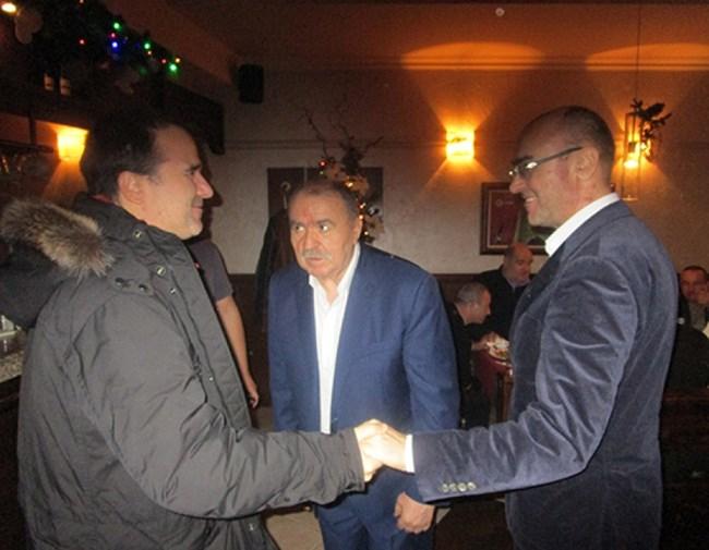 Цветомир, Стефан и Боян Найденови (от ляво на дясно) на събитие, свързано с бизнеса им