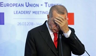 Президентът на Турция Реджер Ердоган  СНИМКА: Ройтерс