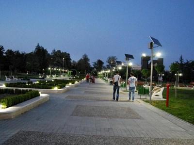 Това е паркът, в който ще се построи новото кино в Кърджали.  СНИМКА: БНТ