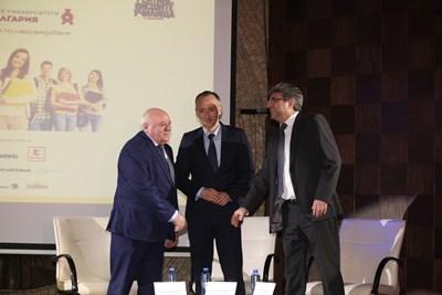 Проф. Любен Тотев, министър Красимир Вълчев и Георги Стойчев обясниха през ректорите и бизнеса смисъла от рейтинговата система
