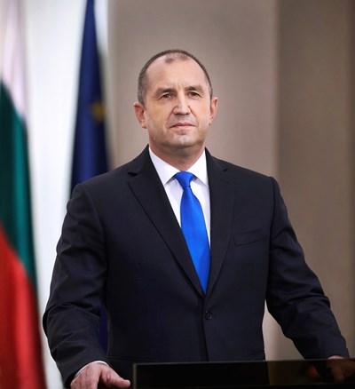Президентът Румен Радев. СНИМКА: ПРЕЗИДЕНТ НА РЕПУБЛИКА БЪЛГАРИЯ