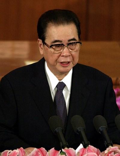 Бившият твърдолинеен китайски премиер Ли Пън   СНИМКА: Ройтерс