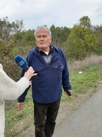 Бившият бургаски депутат Стоян Проданов, жител на Рибарското селище, разказва къде е бил открит трупа.