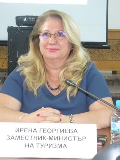 Зам-министърът на туризма Ирена Георгиева сподели, че румънците са най-многобройните чуждестранни туристи, които сега посещават България. СНИМКА: Ваньо Стоилов
