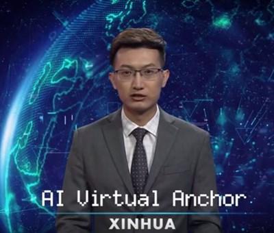 Показаната холограма е била създадена с използването на външността и гласа на известния в страната телевизионен водещ Цю Хао Кадър: Youtube/New China TV