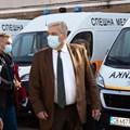 Президентът Румен Радев бе на посещение в Центъра за спешна медицинска помощ в София. Снимка: Президентството