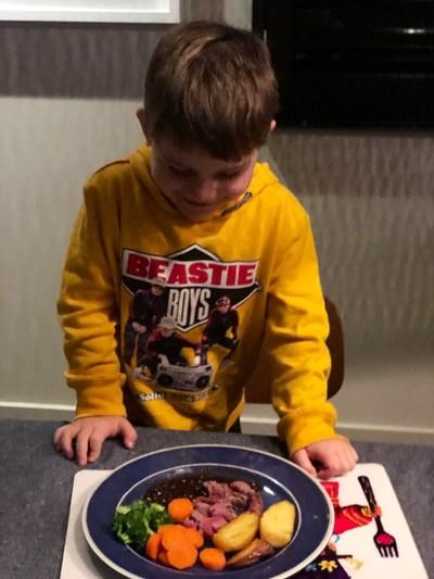 4-годишният Били Снимка: Туитър/ davidcampbell