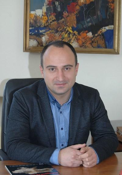 Зам.-кметът на Пловдив по образование Стефан Стоянов СНИМКА: Евгени Цветков