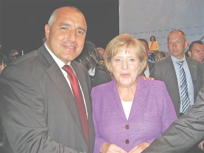"""Бойко Борисов и Ангела Меркел на конгреса на ХСС в Нюрнберг. СНИМКА: """"24 ЧАСА"""""""