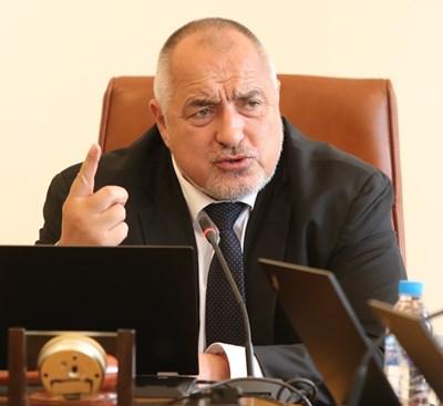 Борисов бе против да се затворят градовете с коронавирус - Габрово и Плевен. СНИМКА: Николай Литов