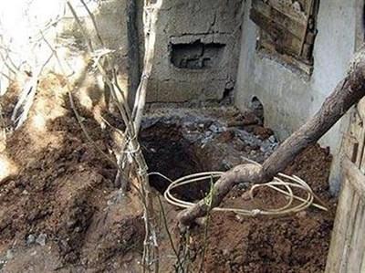 Гробът, в който Медине била заровена жива. Снимка: Ройтерс