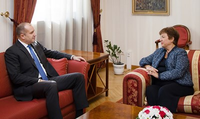 Румен Радев и Кристалина Георгиева СНИМКИ: Прессекретариат на държавния глава