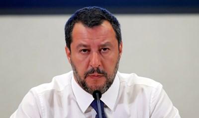 Италианският министър на вътрешните работи Матео Салвини Снимка: Ройтерс