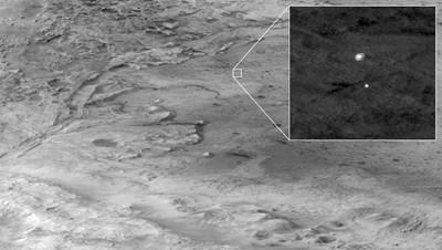 """Разкриха тайно послание в парашута на """"Пърсивиърънс"""" на Марс СНИМКА: РОЙТЕРС"""
