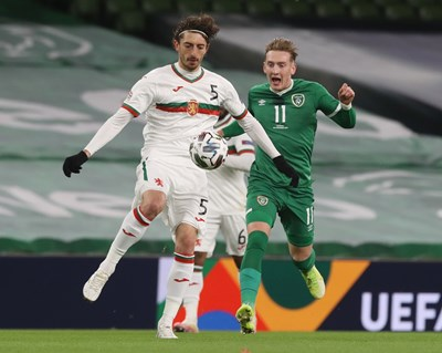 Кристиян Димитров (вляво) с екипа на националния отбор
