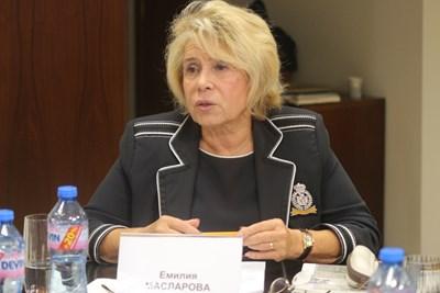 Емилия Масларова СНИМКА: Румяна Тонeва