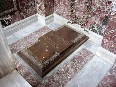 Гробът на Джузепе Верди е в старческия дом.