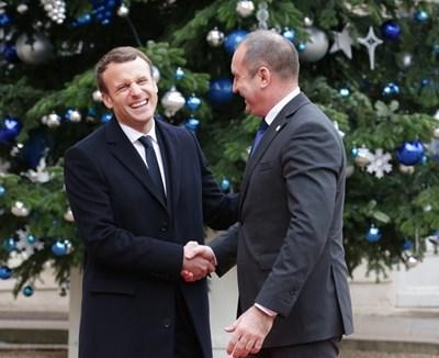 Държавният глава Румен Радев ще бъде на посещение във Франция по покана на президента Еманюел Макрон. Снимка прессекретариат на президента