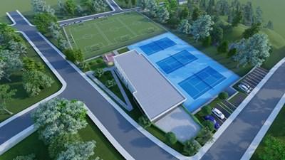 """Така изглежда проектът за спортен комплекс на мястото на кварталното игрище """"Кривуля"""" в """"Бояна""""."""