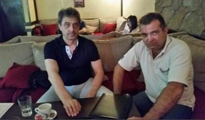 Цветан Василев и Георги Георгиев Снимката е направена на 20 август и циркулира в мрежата Източник: topnovini.bg
