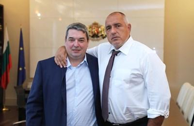 Добромир Добрев с премиера Борисов, който потвърдил ангажиментите на правителството към проекта