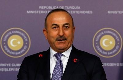 Външният министър на Турция Мевлют Чавушоглу е на посещение в Москва за двустранни разговори. СНИМКА: Ройтерс