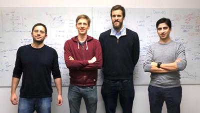 Основателите на ChainSecurity (отляво надясно): проф. Мартин Вечев, Матиас Егли, д-р Хуберт Рицдорф, и д-р Петър Цанков
