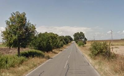 Пътят Ямбол - Тамарино СНИМКА: Google Street View