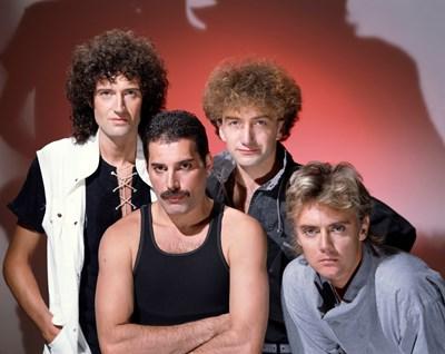"""Великата група """"Куин"""" - Брайън Мей, Роджър Тейлър, Фреди Меркюри и Джон Дийкън. СНИМКА: РОЙТЕРС"""