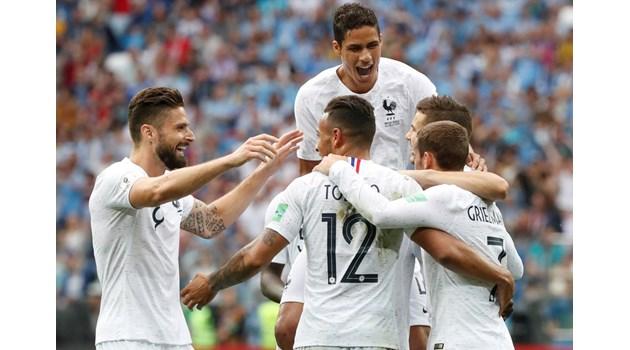 След Аржентина Франция не прости и на Уругвай, на полуфинал е