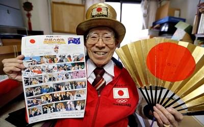 92-годишният Наотоши Ямада  СНИМКИ: Ройтерс