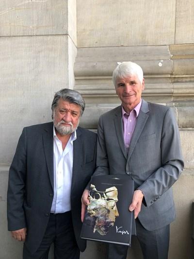 Вежди Рашидов се срещна с Йоханес Зеле, заместник-председател на Комисията по културата и медиите в Бундестага СНИМКИ: пресцентърът на Комисията по културата и медиите