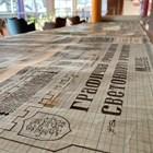 """12-метровият ръкопис на арх. Върбанов, който бе показан за първи път за """"24 часа""""."""