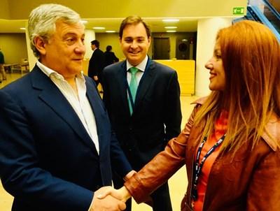 "Антонио Таяни и Кристина Кръстева  СНИМКИ: ""24 часа"""