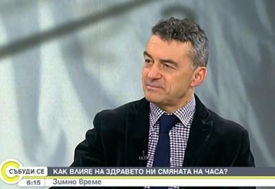 Професор д-р Иво Петров. Кадър Нова телевизия