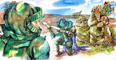 Св. Георги връща мандата - вижте илюстрацията на Анри Кулев