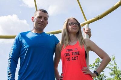 Слави и приятелката му Миряна СНИМКА: Росен Тодоров