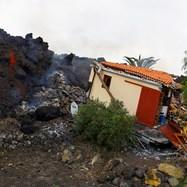 """Изригването на вулкан в националния парк """"Старият връх""""  на Канарските острови"""