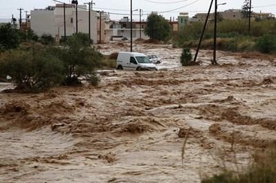 Наводнение в Гърция СНИМКА: Ройтерс