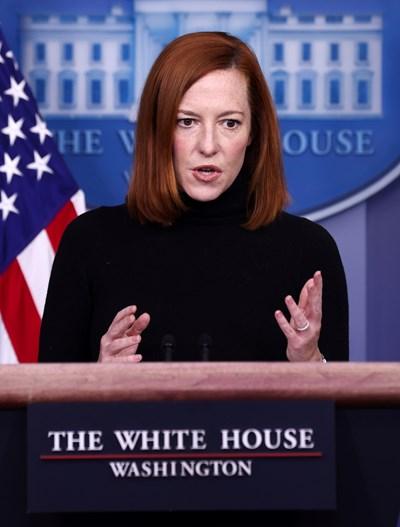 Говорителката на Белия дом Джен Саки СНИМКА: Ройтерс