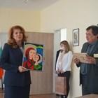 Вицепрезидентът Илияна Йотова дойде в Русе по повод представянето на цялостното творчество на акад. Антон Дончев. Снимка община Русе
